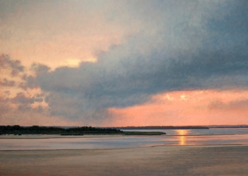 """Dune road mecox bay""  34"" x48"" oil on panel"