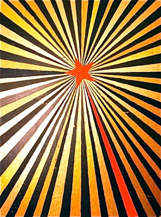 """Bart Vargas – """"The Red Star"""" – 48 x 36 x 2"""""""