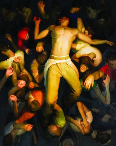 Bryan LeBoeufMosh Pit, 2003. Oil on linen. 60x48in. Collection of Peter N. Geisler Jr., West Palm Beach, Florida.