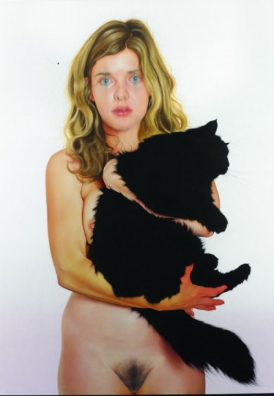Jenny MorganSyrie and the Cat, 2013. Oil on canvas. 76x54in. Courtesy of the artist and Driscoll Babcock Galleries, New York, New York.