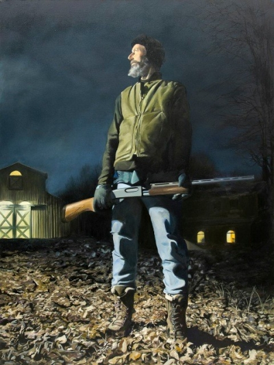Kevin MuenteAmerican Gothic, 2013. Oil on canvas. 48x36in. Courtesy of the artist and the Richard J. Demato Fine Arts Gallery, Sag Harbor, New York.