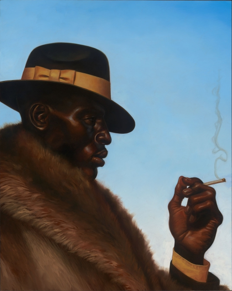 Kadir-Nelson-Fur-Coat-and-Chapeau-30-x-24-Oil-on-Wooden-Panel