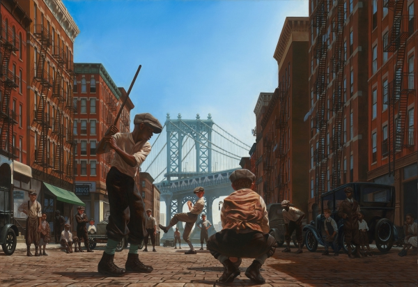 Kadir-Nelson-Stickballers-48-x-70-Oil-on-Linen--