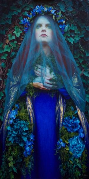 Adrienne-Stein_Blue-Bride_48-x-24_-OIl-on-Canvas_11500
