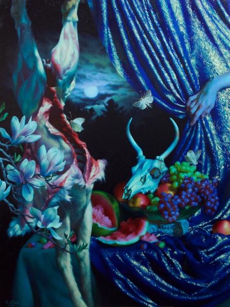Adrienne-Stein_Buck-Moon_-48-x-36-_oil-on-Canvas-$16,500