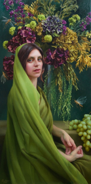 Adrienne-Stein_Green-Bride_48-x-24_Oil-on-Canvas_$12,000-