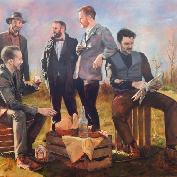 Roeland-Kneepkens_-The-Gentelman's-PIcknick_40-x-47.5_oil-on-canvas_$8500